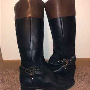 Genuine Michael Kors Leather Boots